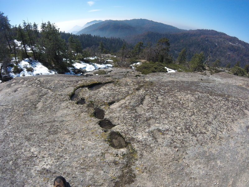 Just below the top of Sunset Rock, chasing the runoff from snow melt.