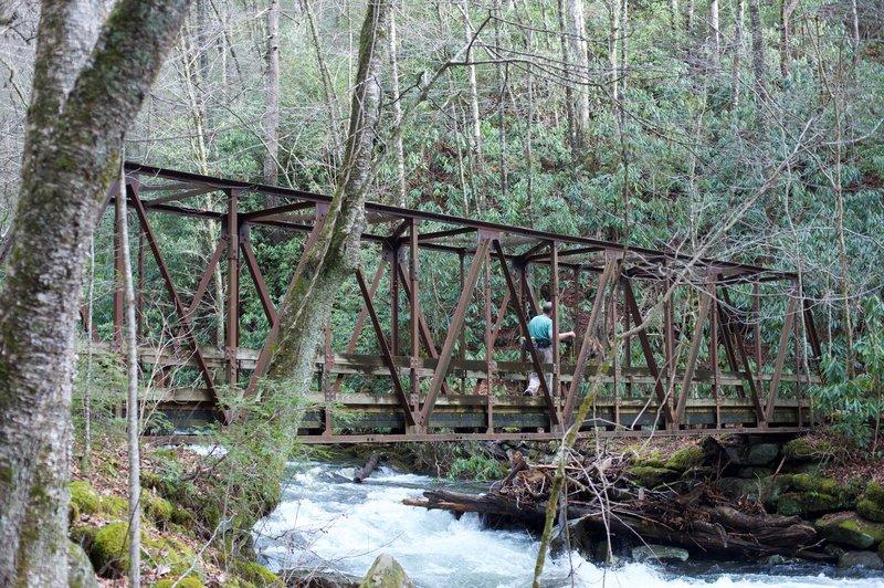 Old railroad bridge crossing the Bradley Fork.
