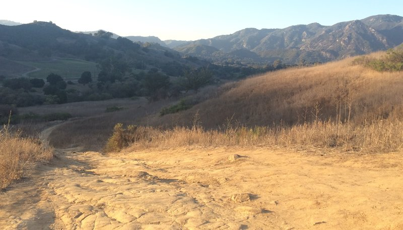 """This is looking down """"The Nasty One."""" Turn around and enjoy the views behind you! Looking towards the Ocean and Malibu Creek State Park."""