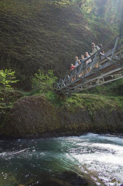 Bridge over Eagle Creek.