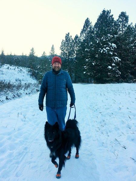 Winter walk at Maclay Flats.