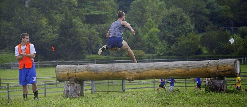 Log jump.
