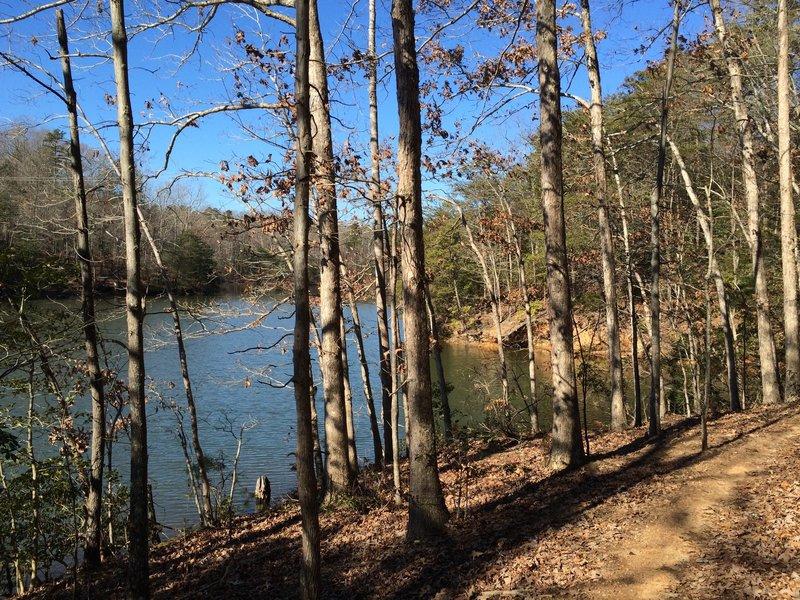 Section along the lake.