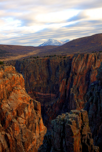 Black Canyon of the Gunnison from the South Chasm Viewpoint.