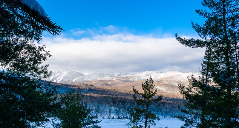 Orford Mountain in winter.