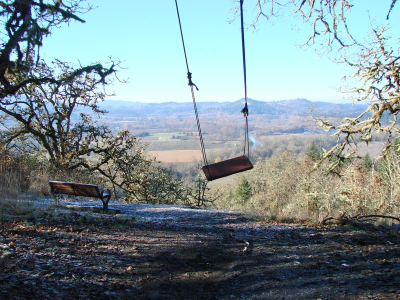 The view and swing from Swing Hill
