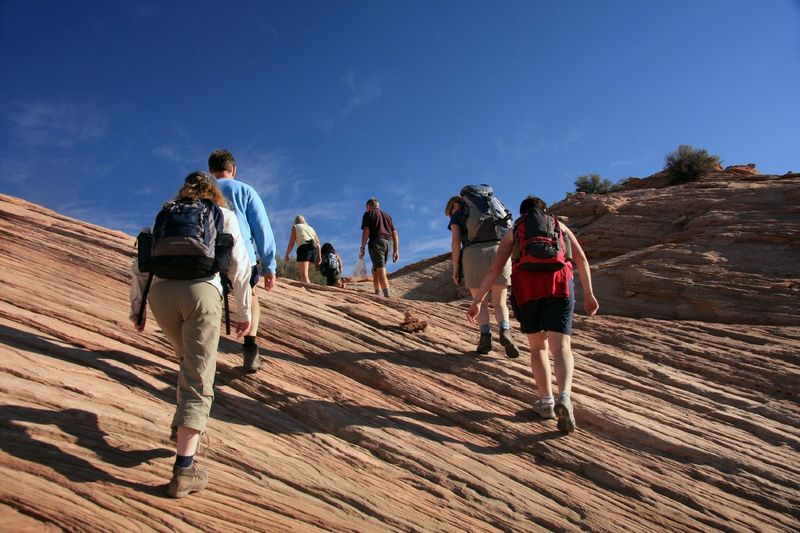 Working up the Aztec Butte Trail.