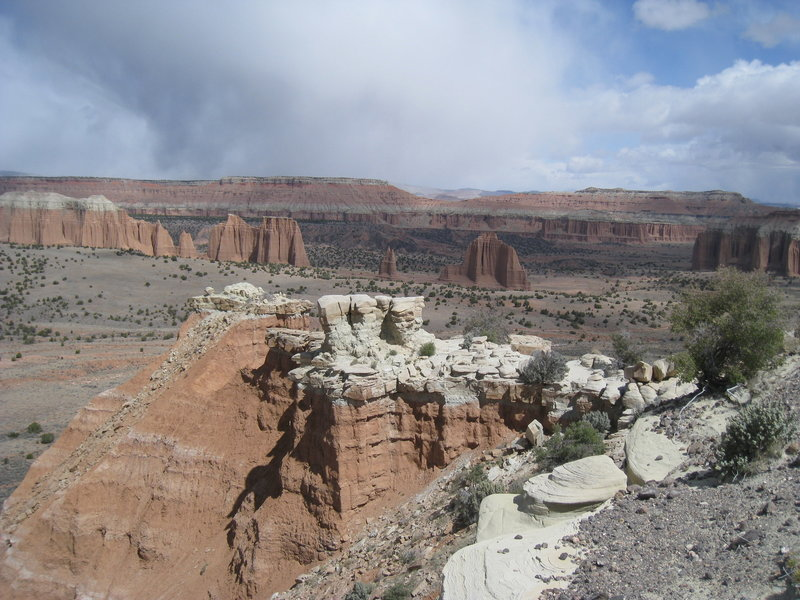 Upper Cathedral Valley Overlook.