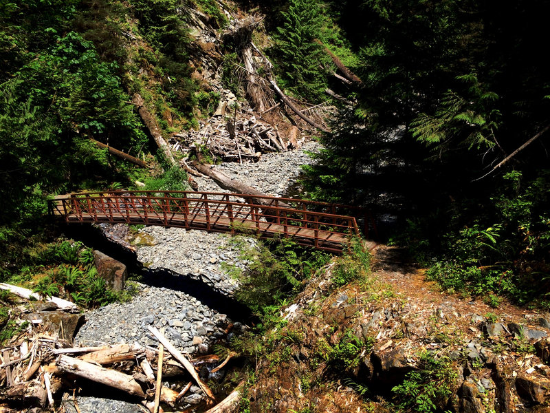 Crossing Big Creek in the record summer of 2015.