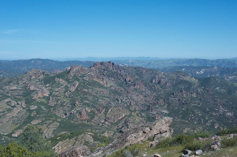 A view looking over the volcanic landscape.