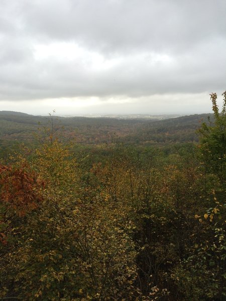 Autumn view from Eagle Rock. The ridge far in the distance is the Blue Mountain range.