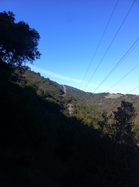 Looking out towards the PG&E Trail. It isn't over until the last Electrical tower off in the distance.