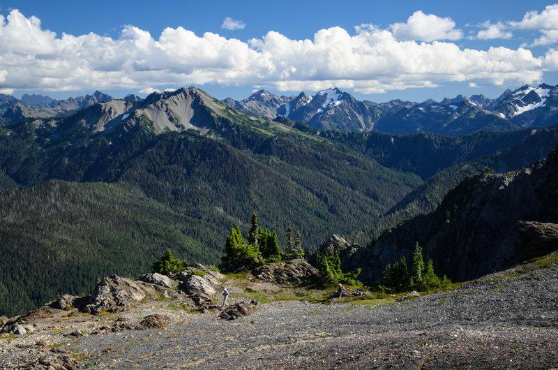 An epic ridgeline view...