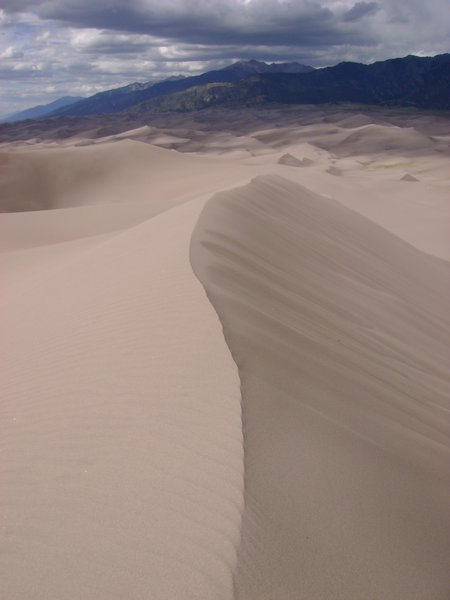The view from High Dune. No footprints out there!