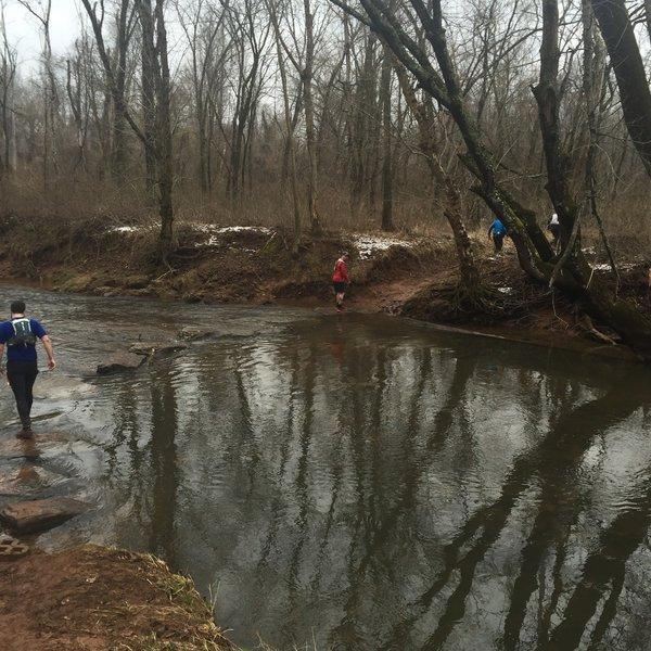 Seneca Bluffs creek crossing.