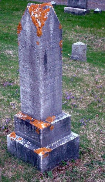 Stone epitaph.