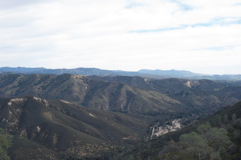 A view of the surrounding hills from the High Peaks Trail.