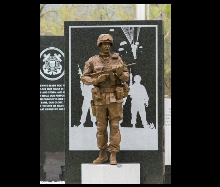 Elizabethtown/Hardin County Veteran's Memorial at Elizabethtown Nature Park. Located at the trail start and finish points.