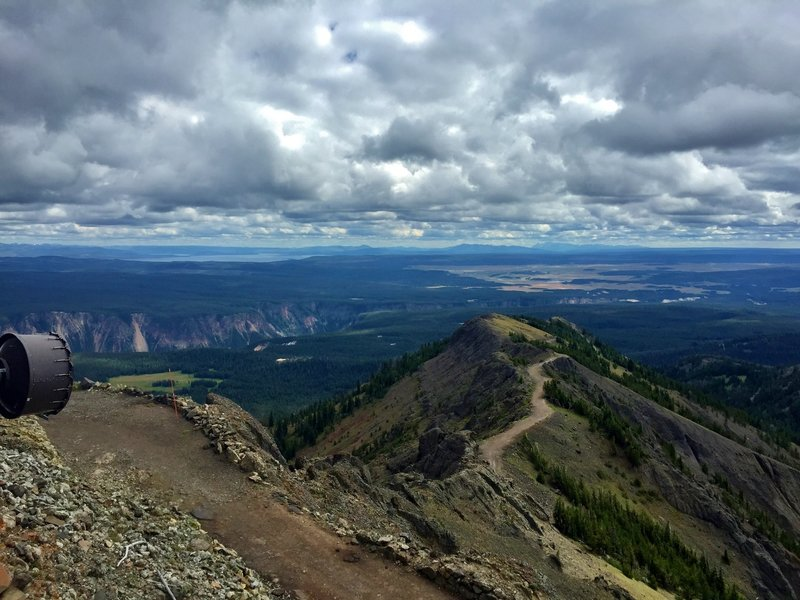 From the top of Mount Washburn the views are astounding!