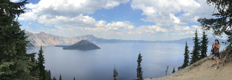 View of Crater Lake from Discovery Point Trail.