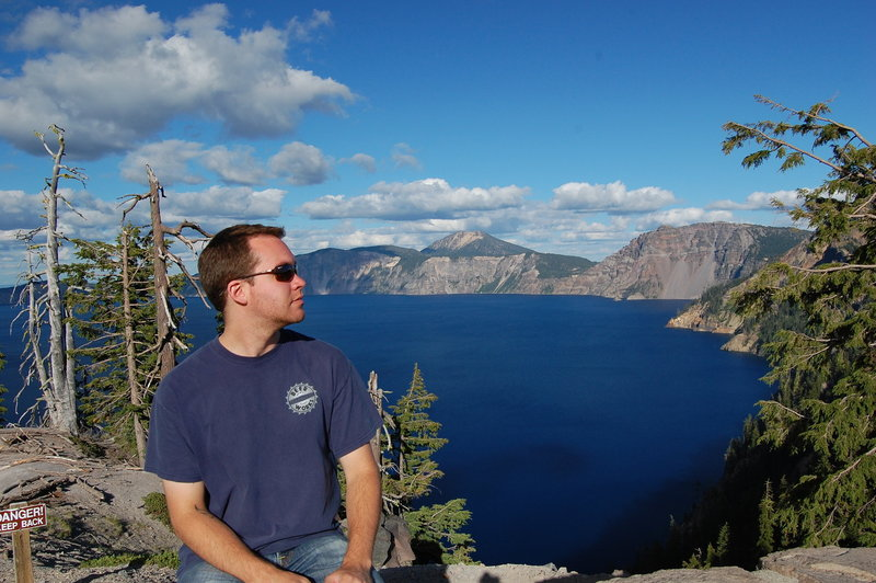 The best views of Crater Lake are had right at the beginning, before you start to descend the Lightning Trail.