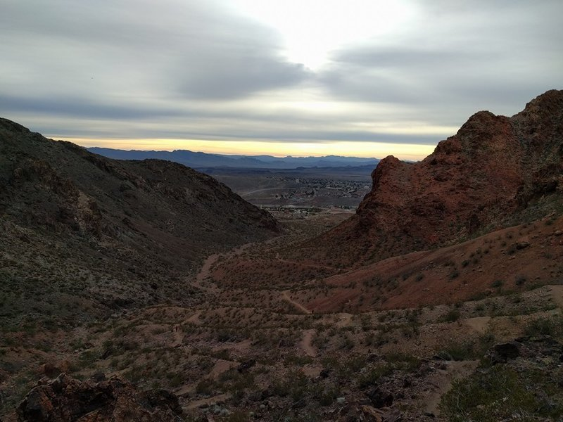 The top of the switchbacks!