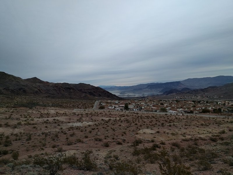 Obscured view of Lake Mead.