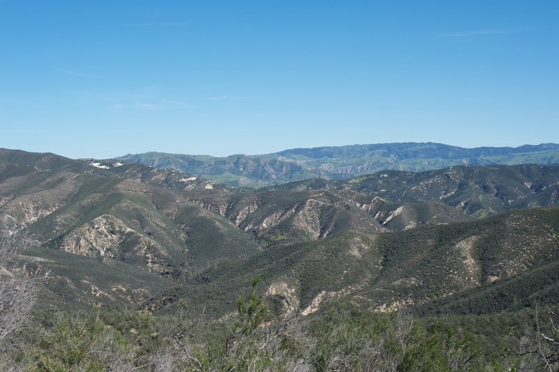 The surrounding hillsides in the other direction.