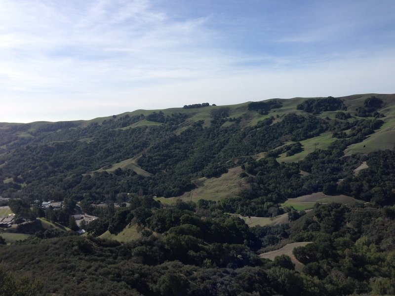 View of the west side of Las Trampas.