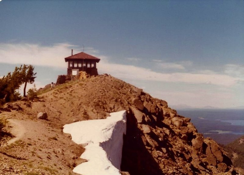 The final approach to the fire lookout on top of Mount Sheridan hasn't changed in a long time.