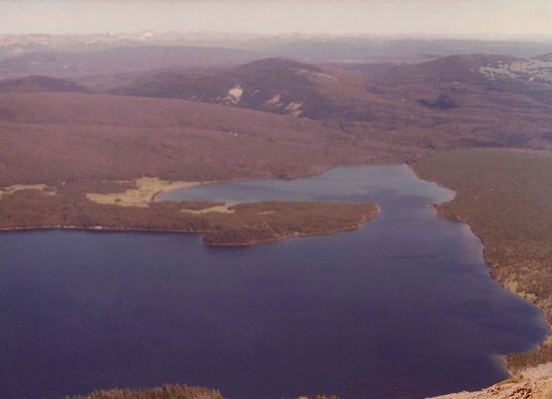 View of Heart Lake from Mount Sheridan.