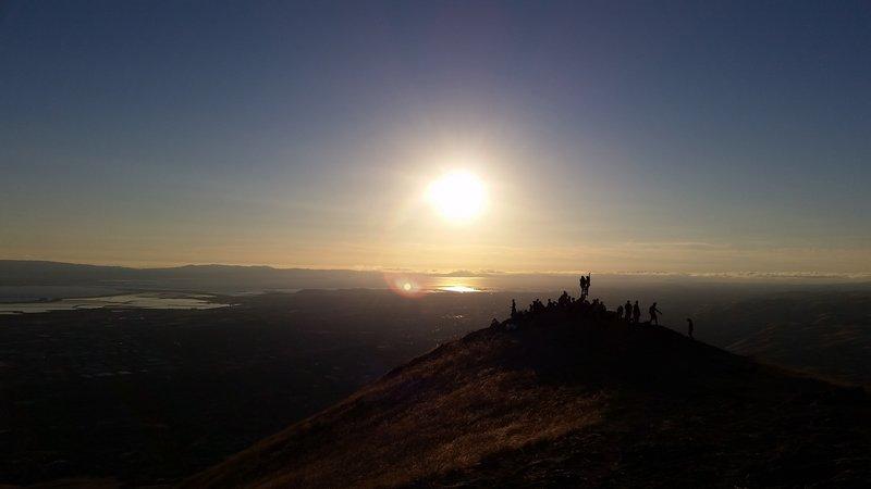 Sunset on Mission Peak.