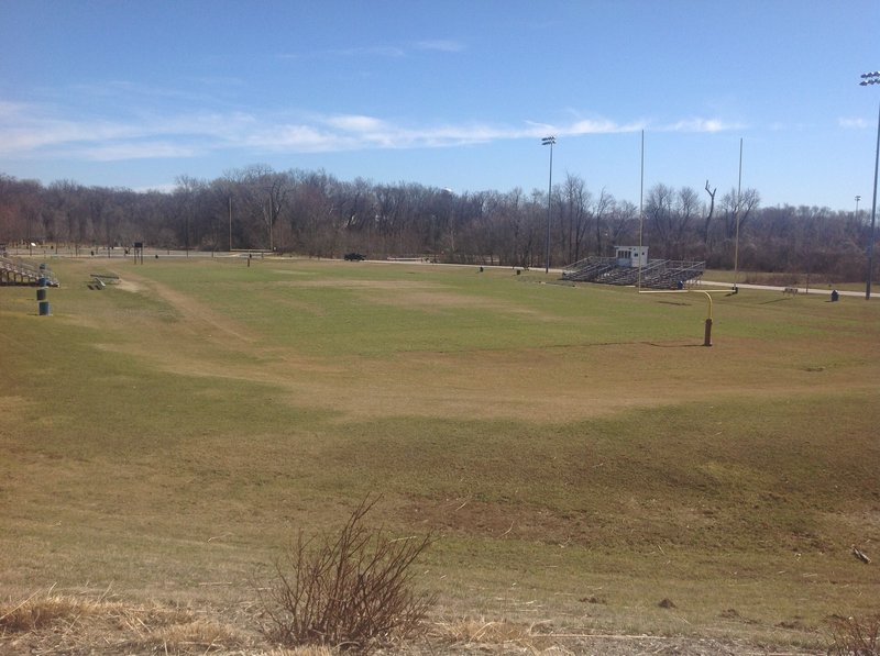 Main field in center of smaller upper loop