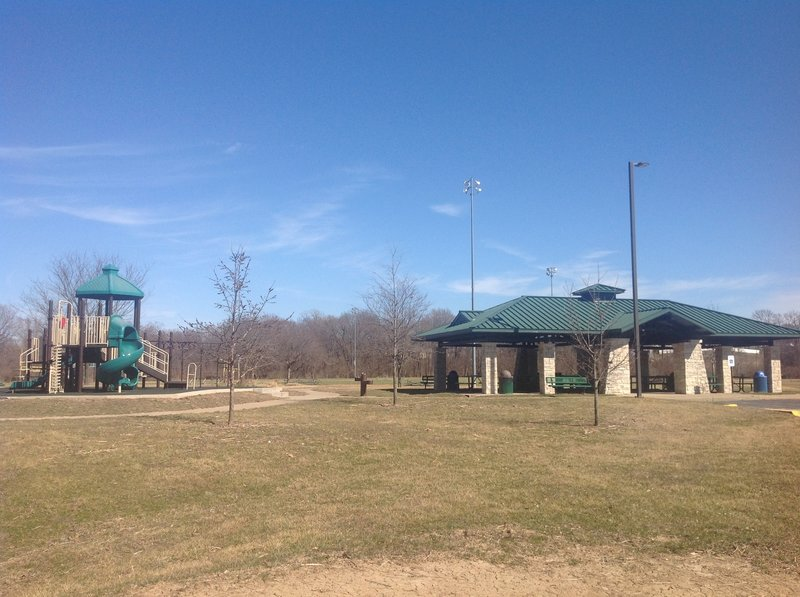 Playground and pavilion on the South Loop