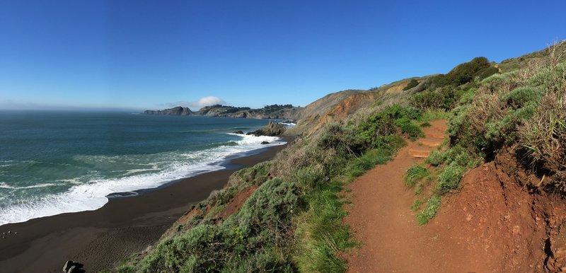 Facing the Point Bonita Lighthouse.