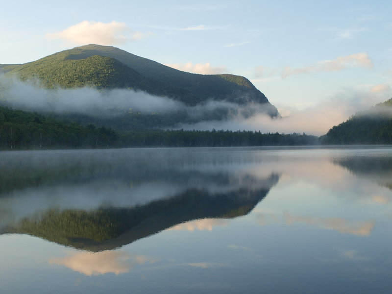 Morning on Lower South Branch Pond. with permission from Laura Sebastianelli