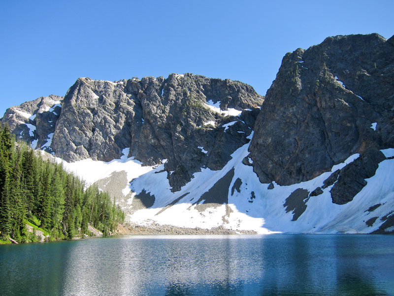Blue Lake in Okanogan National Forest.