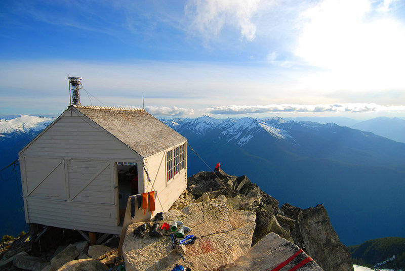 Hidden Lake Hut. with permission from Mike Conlan