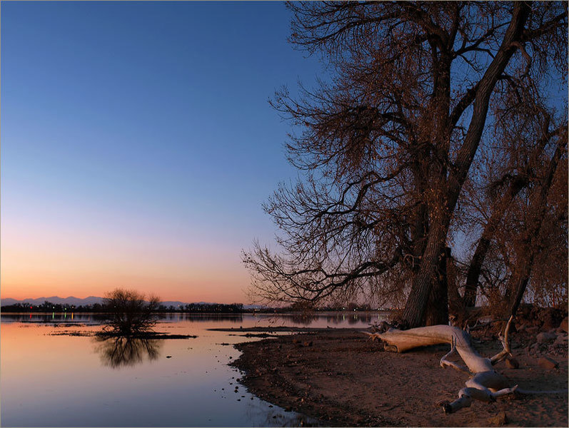 Barr Lake State Park at sunset. with permission from algill