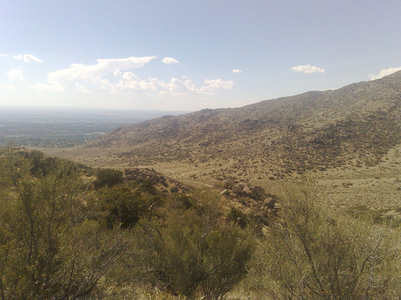 Valley views from the Embudo Horse Trail.