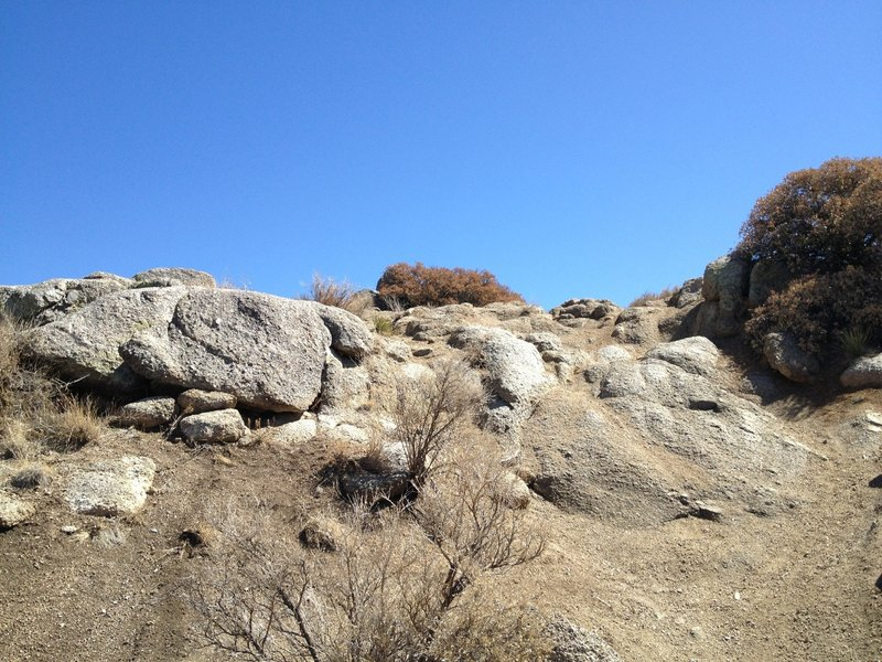 There are some intimidating features at the end of the Embudo Trail, but they're conquerable.