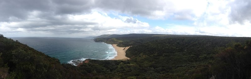 Looking south back towards Garie Beach.