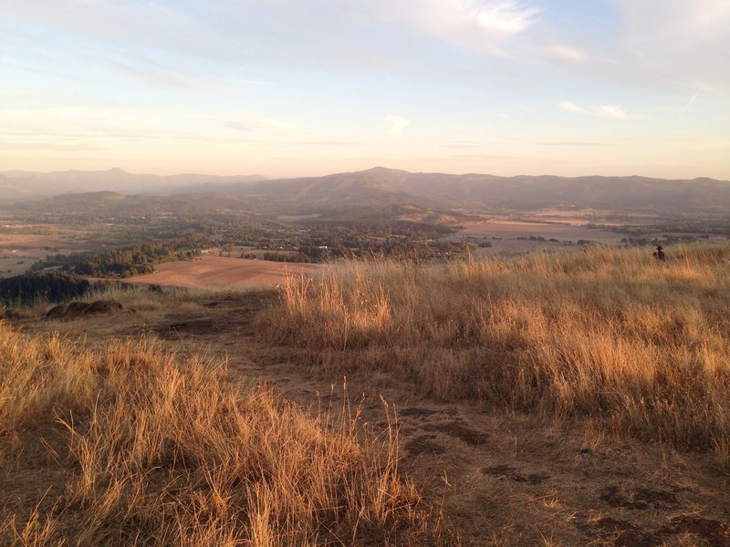 Views from the summit of Mt. Pisgah at sunset.