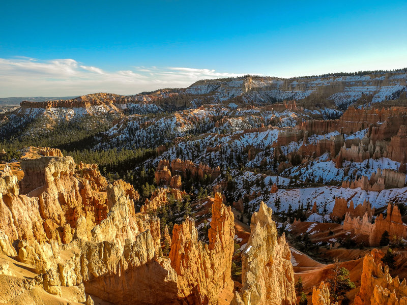 Bryce Canyon winter sunset.