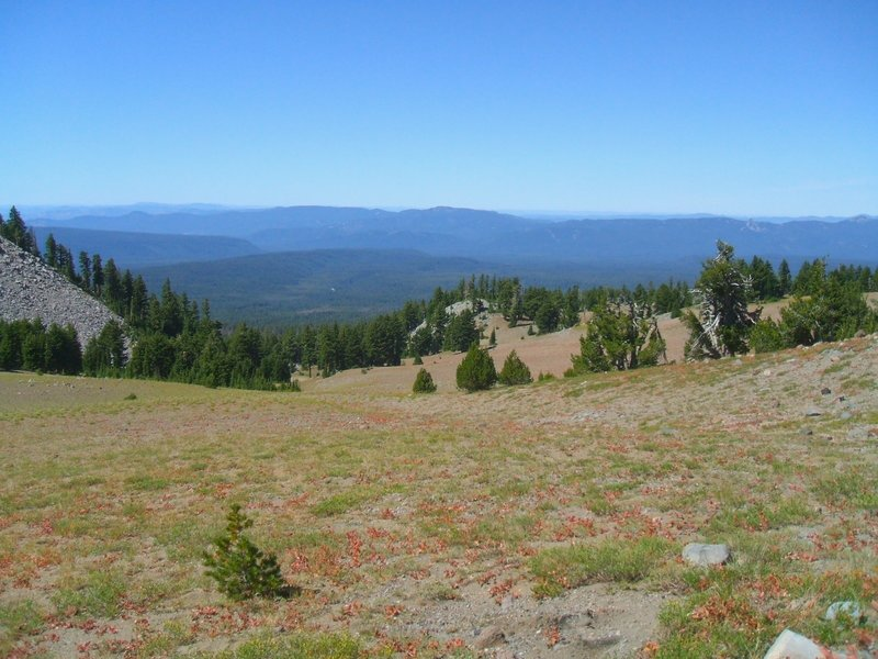 The view off the slopes of Mount Mazama.
