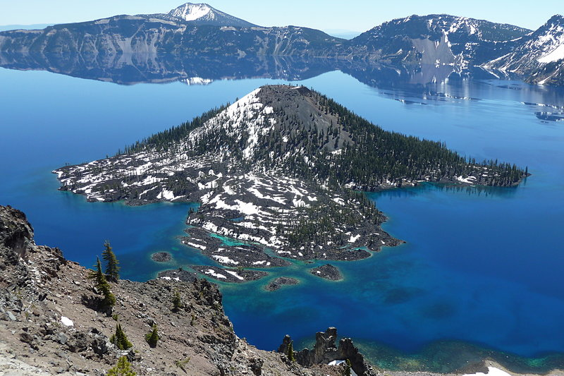 Wizard Island as seen from the PCT.