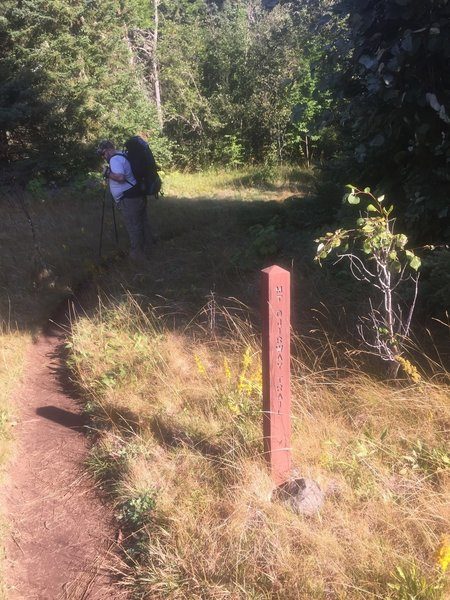 Start of the Mount Ojibway trail at Daisy Farm on Isle Royale.