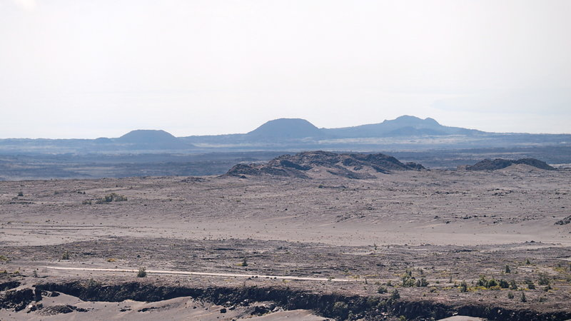 Craters in the far distance - Hawaii Volcanoes National Park.