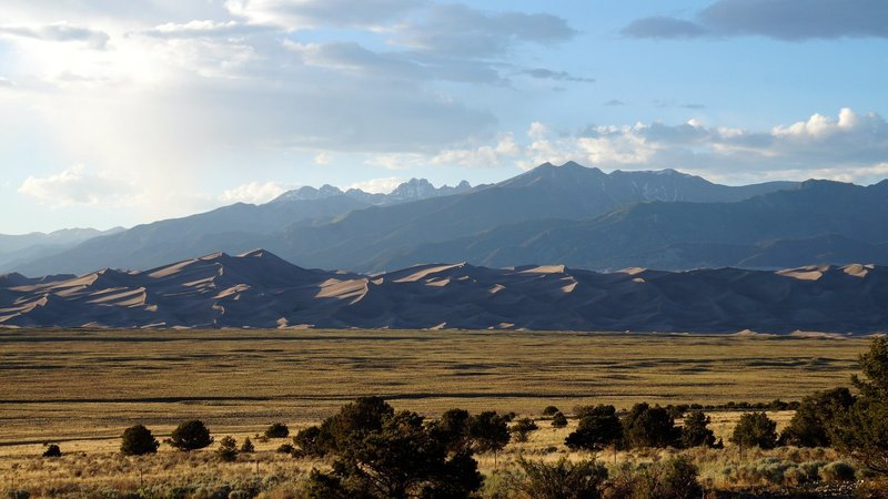 The views approaching the dunes are spectacular!