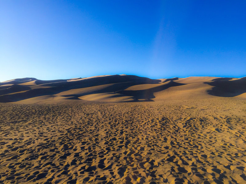 Some say that the Sand Dunes are most scenic at sunset.